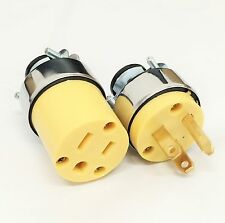 1 Female 1 Male Extension Cord Replacement Electrical Plugs 15AMP 125V 3 Prong