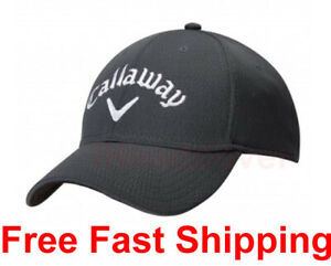 Golf Callaway Performance Series Black Hats One Size Fits All Cap Free Shipping!