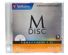 1000 Years Archival Verbatim Bluray M-Disc BD-R 50GB 6x Inkjet Printable 1 Pack