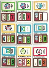 1979-80 Topps 48-piece Wax Pack Team Decal Insert Lot  Montreal Canadiens