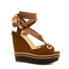 New Womens High Wedge Heel Platform Sandals Ankle Strap Summer Espadrilles Size