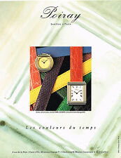 PUBLICITE ADVERTISING  1990   POIRAY  joaillier horloger collection montre