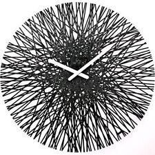 "Koziol SILK WALL CLOCK Modern LARGE 18"" 45cm CLOCK - BLACK"