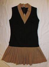 vtg 50's do 20's Samuel Parnes flapper tennis pleated skirt stertchy dress M