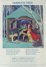 OLD ADVERT ABDULLA CIGARETTES c1937 TOBACCO CHRISTMAS TRYST VINTAGE PRINT