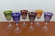 verre en cristal de couleur coffret de 6 verres a vin poele marmite couteau d4