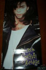 NICE !!!  >> 2 SIDED Graffiti Bridge PROMO Poster > PRINCE the singer