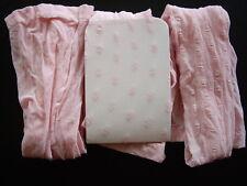 3 Pairs Girl's Pink Daisy Pattern Bridesmaid Wedding Party Tights Age 2-4 UK