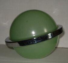1930 s Art Deco Davidson Chrome Ring Saturn Verre Abat-jour Abat-jour
