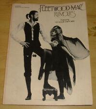 Vintage Fleetwood Mac Rumors Piano Vocal Chords Music Book 1978