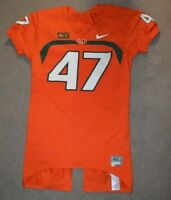 Miami Hurricanes Football Nike Game Worn used Cut Jersey #47 Michael Irvin