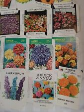 Vintage #41 Assorted Flower Garden Seed Packets Envelopes Art Graphics