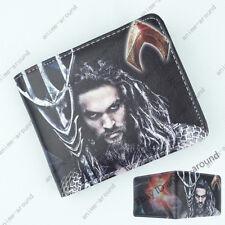 Justice League Aquaman Wallet Dc Superhero Short Bifold Card Holder Purse Gift A
