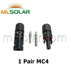 1 Pair M/F MC4 Male Female 30A Wire Cable Connector Set Solar Panel USA