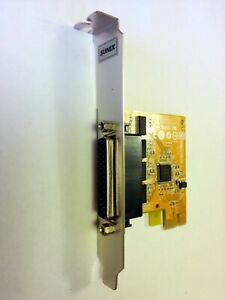 Sunix serial SER6456A PCI-e x1 RS-232 4-Port via breakout cable 115.2Kbps max