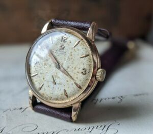 Gents 1958 Omega Automatic Dauphine Gold 80 Micron Bumper Cal 491 Watch Working