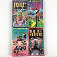 Lot of 4 Richard Simmons Fitness Exercise Videos VHS 3 Still Sealed