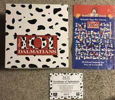 1996 McDonald's Happy Meal 101 Dalmatians Box Set w/Coa & Display Poster Imc