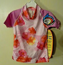 NWT NEW SunSkinz Girls 2 2T Small Rash Guard Sun Protection Screen Swim Shirt