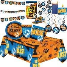 Nerf Party Tableware (Cups, Plates, Napkins) Decorations, Bags & Balloons