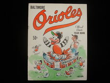 1960 Baltimore Orioles Baseball Yearbook