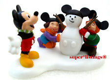 Dept. 56 Mickey Builds A Snowman Retired 2009 North Pole 56849 New