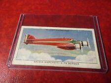 Militaria - 1938 Will's Cigarette Card - Savoia-Marchetti S-79 Bomber