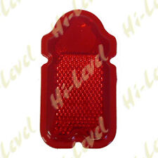 CUSTOM MOTORCYCLE MOTORBIKE TOMBSTONE TAIL LIGHT LENS RED 114mmx 62mm BC18265  T