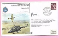 GB 1982 RAF Cover  25th Ann FORMATION OF THE ARMY AIR CORPS - Shs & Pilot Signed