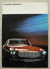 VOLVO 1800S Car Sales Brochure Aug 1966 #RK2270 8.66.70,000