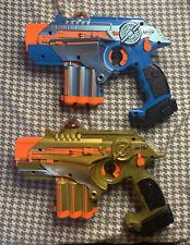 GREAT Nerf Lazer Tag Phoenix LTX  (2 Guns - Gold & Blue)
