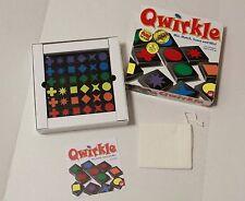 Qwirkle Wood Wooden Tiles Puzzle Strategy Mensa Player MindWare Complete Quirkle