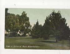 View In Victoria Park Bloemfontein South Africa 1910 Postcard 114b