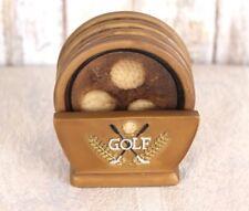 New listing Vintage Coasters Ceramic Golf Design set of 4