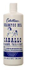 Cabellina Shampoo DEL CABALLO HORSE For Mane Tail & Body Olive /Coconut Oil 32oz