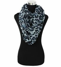 "Women's Fashion Stylish GRAY GREY Leopard Print Infinity Loop Scarf ( 37"" *70 "")"