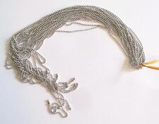 Wholesale Lot of 10 Silver Tone Ball Chain Necklaces, 18 Inches