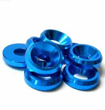 TD10074 M3 3mm Countersunk Washer Alloy Aluminium Light Blue x 8