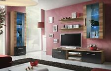 Bellis 1 - black and walnut wall unit / entertainment center cabinet / tv stand