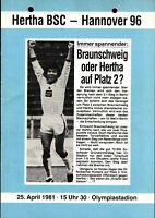 II. BL 80/81 Hertha BSC - Hannover 96, 25.04.1981, Okudera