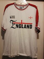 ENGLAND - Rugby World Cup 2011 T SHIRT - size L - Official World Cup Collection