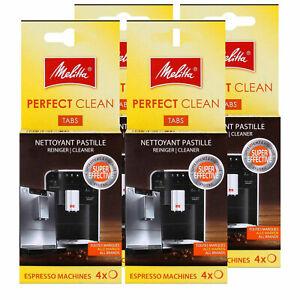 4x Melitta PERFECT CLEAN Reinigungstabs Espresso Maschinen