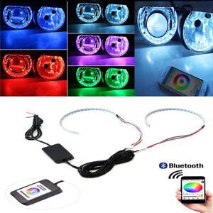 15-SMD RGB LED Demon Eye Halo Ring Red Yellow bule Lamp Kit Headlight Projectors