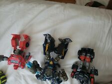 Transformers figures iron hide, trail bleaker ,iron hide