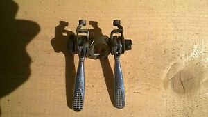 Downtube Shifters vintage retro road bike Sachs huret 1580 clamp on silver