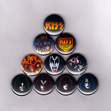 "KISS 1"" PINS BUTTONS (paul gene peter ace vintage shirt sticker lp army patch)"