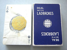 BOOKMAKERS LADBROKES SEALED NON SPECIFIC ACE & JOKERS PLAYING CARDS VINTAGE