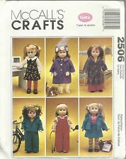 "McCall'S Crafts 2506 Gotz 18"" Doll Clothes And Dog New And Uncut Patterns 1999"