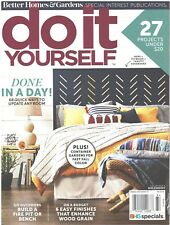 BH&G DO IT YOURSELF Magazine Fall 2018 Update Any Room Quick Fire Pit Bench