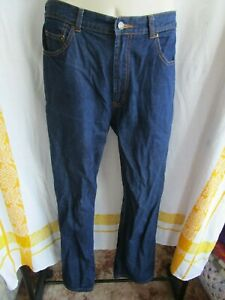 JEANSWEST, Blue Denim Jeans, Button, Pockets, Zip, Stitching, Size 12, Exc Cond